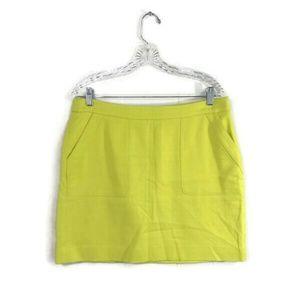 Loft Size 10 Citron Yellow Mini Skirt with Pockets